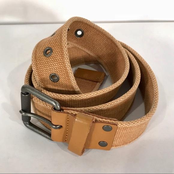 """GAP Other - Gap Men's Tan Canvas & Leather Belt Large 40-44"""""""